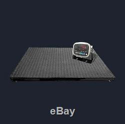10000 lb 4'x4' Digital Floor Scale with Indicator Pallet Weighting Warehouse