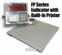 10,000 Lbs Capacity 4'x4' Floor Pallet Scale Industrial Indicator with Printer
