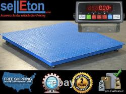 48 X 48 (4' X 4') Floor Scale / Pallet Size With Rs-232 Port 5000 Lbs X 1 Lb