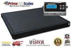 48 x 48 (4'x4') Floor Scale 2500 lbs. X. 5 lb. With Pit Frame Pallet Scale
