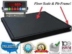 48 x 48 (4'x4') Floor Scale with Pit Frame Pallet size 1,000 lbs. X. 2 lb