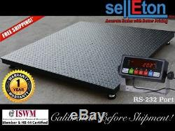 48 x 48 (4' x 4') Floor Scale / Pallet Size with RS-232 port 1000 x. 2 lb