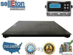 48 x 48 (4' x 4') Floor scale pallet size with 2 bumper guards 10,000 lbs x 1lb