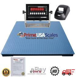 48 x 48 Floor Scale with Thermal Printer 10,000 lb x 1 lb 4x4 Pallet Scale