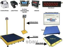 48 x 72 Industrial Floor Scale and Warehouse Pallets 1000 lbs x. 2 lb