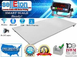 48 x 96 (4'x8') Floor scale / with 2500 x. 5 lb Industrial warehouse pallet
