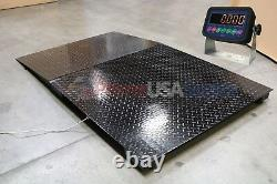 4x4 Floor pallet Scale 8,000 lb with 48 x 30 Ramp for Pallet Jack