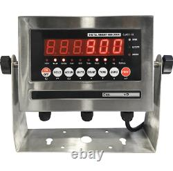 4x4 Floor scale Pallet 3,000 lb 5 Year Warranty Stainless Steel Indicator 48x48
