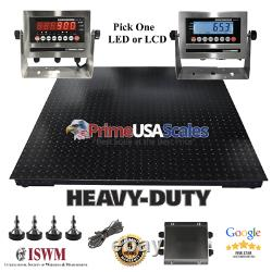 4x4 Floor scale Pallet 500 lb 5 Year Warranty Stainless Steel Indicator 48x48