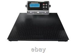 4x4 Heavy Duty Pallet Floor Scale 7,500 lb with Indicator 5 Year Warranty