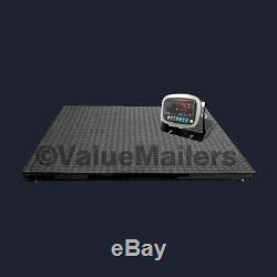 5000 lb Floor Scale with Indicator Industrial Pallet