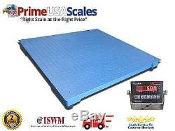 5,000 LB x 1 LB Optima NTEP 3' x 3' Floor, Pallet Scale With Indicator NEW