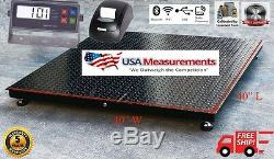 5 Year Warranty 10,000 lb 40x40 Floor Scale Pallet Warehouse with Printer