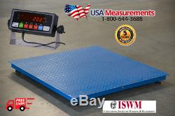 5 Year Warranty 1,500 lb x 1lb 40x40 Floor Scale Pallet Scale with Indicator