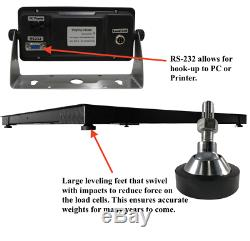 5 Year Warranty 3,000 lb 4x8 Pallet Floor Scale NTEP Legal 4 Trade SS Indicator