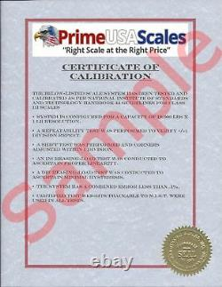 5 Year Warranty 500 lb 40x40 Floor Scale Pallet Warehouse with Printer