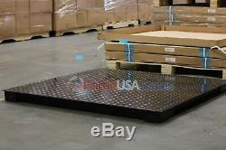 5 Year Warranty 5,000 lb 40 x 40 Floor Scale for Weighing Pallets with Indicator