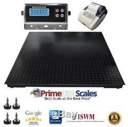 5 Year Warranty 8,500 lb 40x40 Floor Scale Pallet Warehouse with Printer