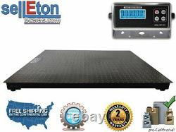 5' x 4' (60 x 48) Floor Scale /Pallet with Metal Indicator 5000 lb x 1 lb