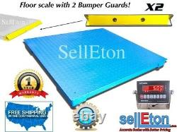 60 X 60 (5' X 5') Floor Scale Pallet Size With 2 Bumper Guards 5000 Lbs X 1 Lb