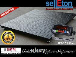 60 x 60 (5' x 5') Floor Scale / Pallet Size with RS-232 port 5,000 lbs x 1 lb