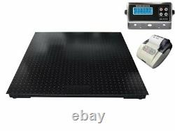 60 x 60 Floor Scale / Pallet size with indicator & printer 2500 lbs x. 5 lb