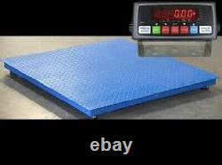 Floor Scale Pallet Scale with Indicator 5 Year Warranty 5000 lb x 1lb 40x40