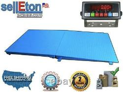 Floor Scale Pallet Size 10,000 lbs x 1 lb 48 x 48 With A Ramp