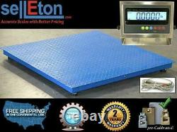 Floor Scale/ Pallet Size / Stainless Steel Indicator 48 x 48 5000 lbs x 1 lb