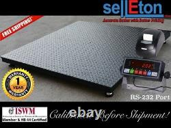 Floor Scale / Pallet size 48 x 48 with indicator & printer. 2,500 lbs x. 5 lb