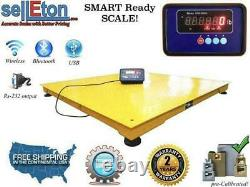 Floor Scale with Printer & Indicator 1000 lbs x 0.2 lb STG Pallet Size 60 x 60