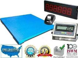 Floor Scale with Printer & Scoreboard 10,000 lbs x 1 lb Pallet Size 48 x 48