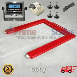 Horse Shoe Scale OP-932 Floor Pallet Jack Scale 46x48 2,500 lb with Printer