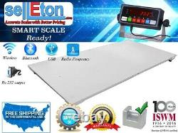 Industrial Warehouse 4'x8' (48 X 96) Floor Scale With Pallet 2500 Lbs X. 5 Lb
