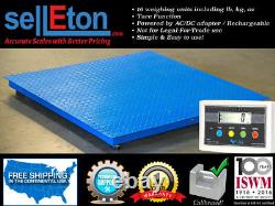 Industrial pallet size platform floor scale for warehouse weigh cap of 2500 x. 5