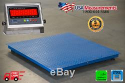 NEW 5,000 lb 48 x 48 Industrial Floor Scale Pallet Size / Calibrated in USA