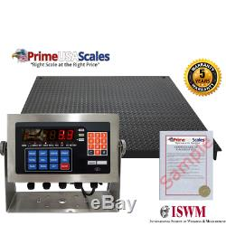 NEW Industrial 48 x 48 Floor scale / Pallet size / SS indicator 10,000 x 2 lb