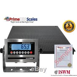 NEW Industrial 48 x 48 Floor scale / Pallet size / SS indicator 5,000 x 1 lb