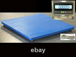 NEW Industrial 60 x 60 Floor scale / Pallet size / SS indicator 2500 x. 5 lb