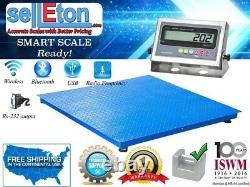 NEW Industrial 60 x 60 Floor scale / Pallet size / SS indicator 5000 x 1 lb
