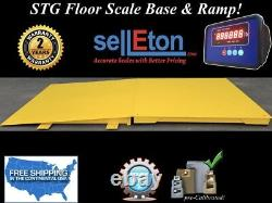 NEW Industrial 60 x 60 floor scale with ramp 10,000 lbs x 1 lb digital pallet