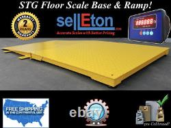 NEW Industrial 60 x 60 floor scale with ramp 5000 lbs x 1 lb digital pallet