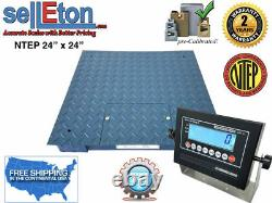 NEW Industrial NTEP 2' x 2' & 4' x 4' Floor scale for Warehouse pallet weighing