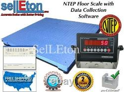 NEW NTEP Legal 60 x 60 5' Floor scale pallet 2000 x. 5 lb with Data Software