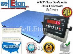 NEW NTEP Legal 60 x 60 Floor scale pallet 5000 x 1 lb with Data Software