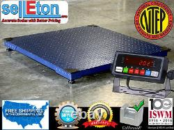 NTEP 10,000lb x 2lb 4x5 (48x60) Pallet Floor Scale with Indicator Legal 4 Trade