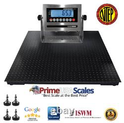 NTEP 2500 lb x. 5 lb 4x6 (48x72) Pallet Floor Scale Indicator Legal For Trade