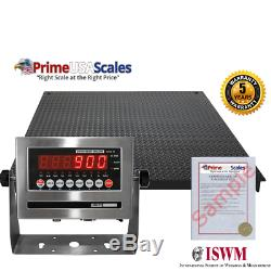 NTEP 2500 lb x. 5 lb 4x6 (48x72) Pallet Floor Scale with Indicator Legal 4 Trade