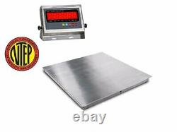 NTEP 36x36 (3'x3') Floor Scale pallet scale stainless steel / 5000 x 1lb