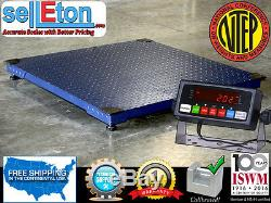 NTEP 5000 lb x 1 lb 4x5 (48x60) Pallet Floor Scale with Indicator Legal 4 Trade